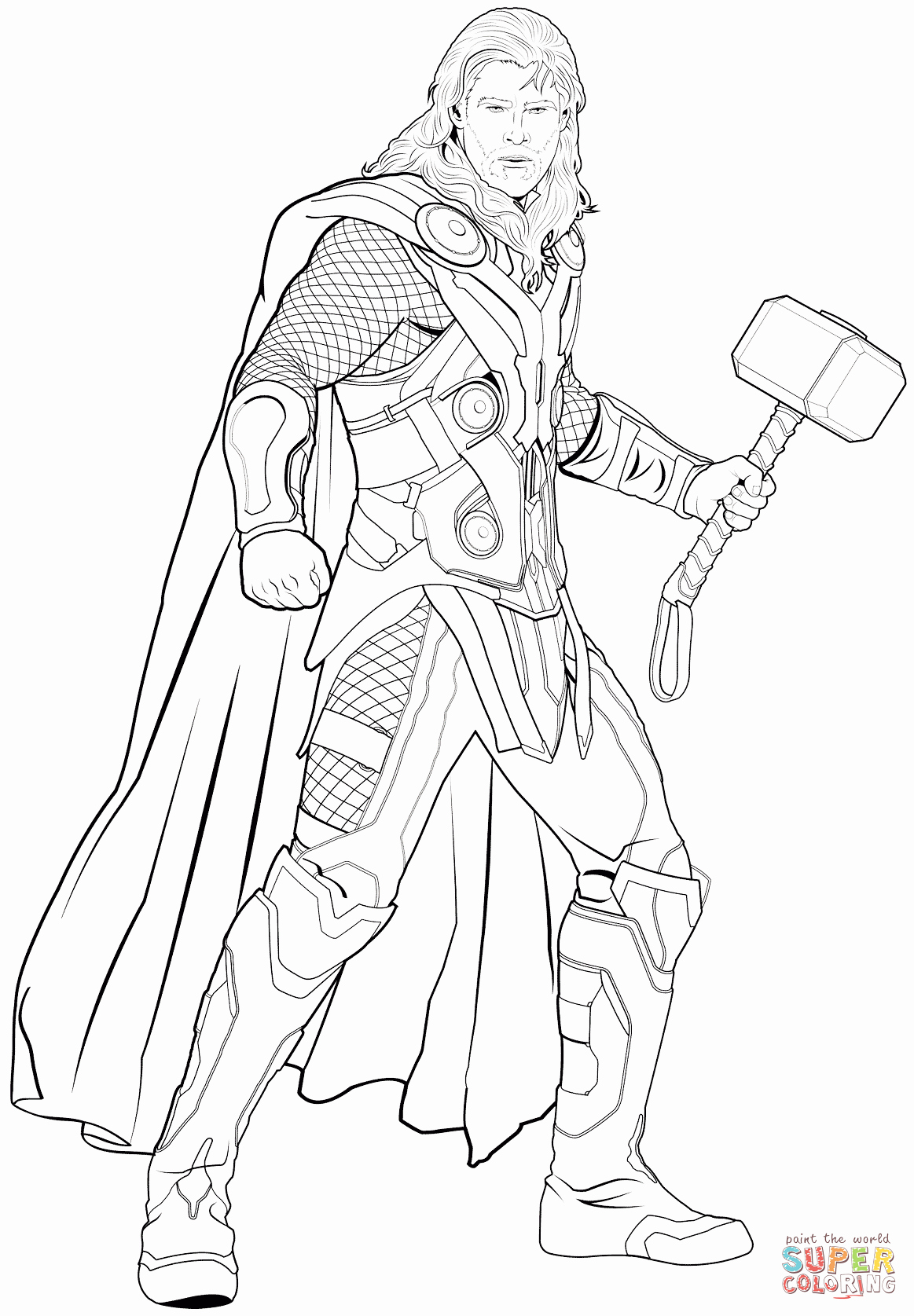 thor ragnarok coloring pages New Avengers Thor coloring ...
