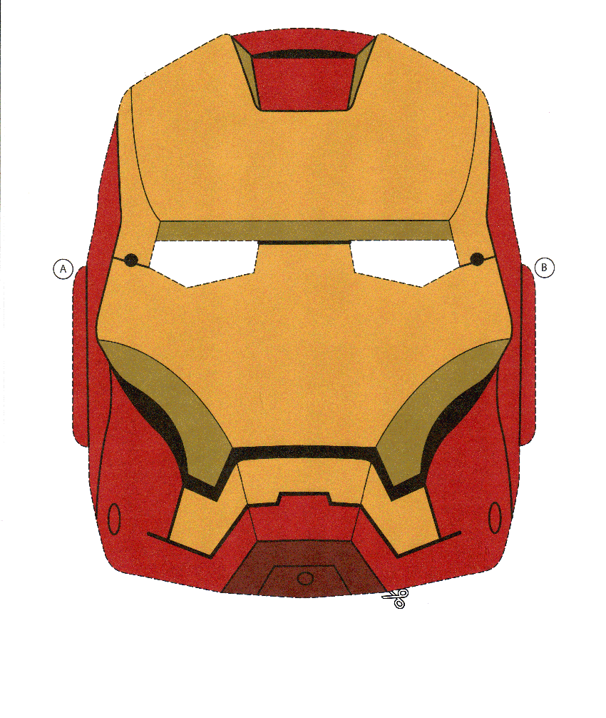 Modelos De Mascaras Para Imprimir Dos Vingadores