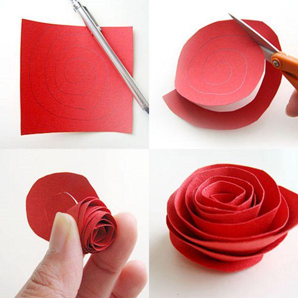 Decoração com rosas de papel