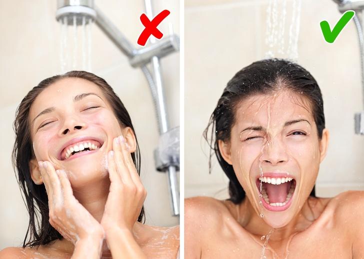 Não tomar uma ducha de contraste