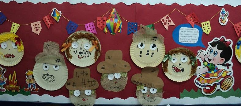 Desenhos de estudantes para a parede da sala