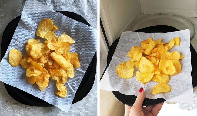 Faça chips murchos ficarem crocantes novamente