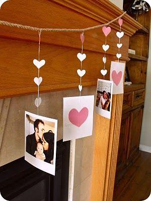 Varal romântico com fotos
