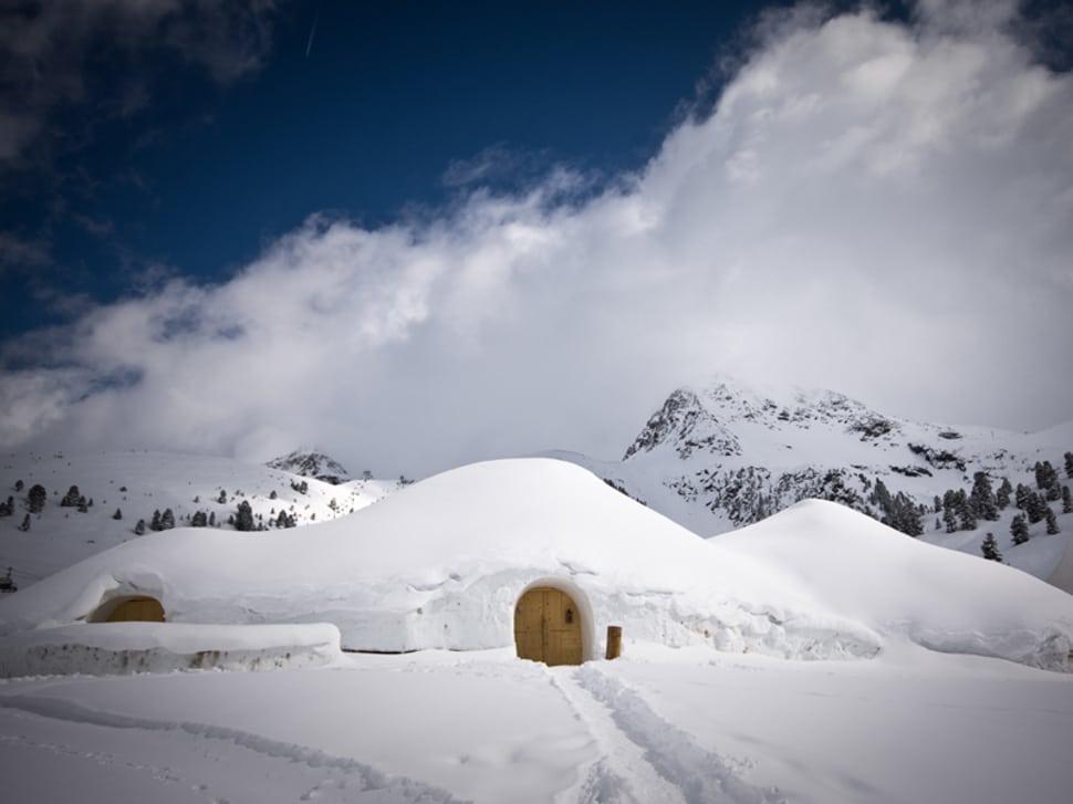 Aldeia iglu, Kuhtai, Tirol, Alemanha