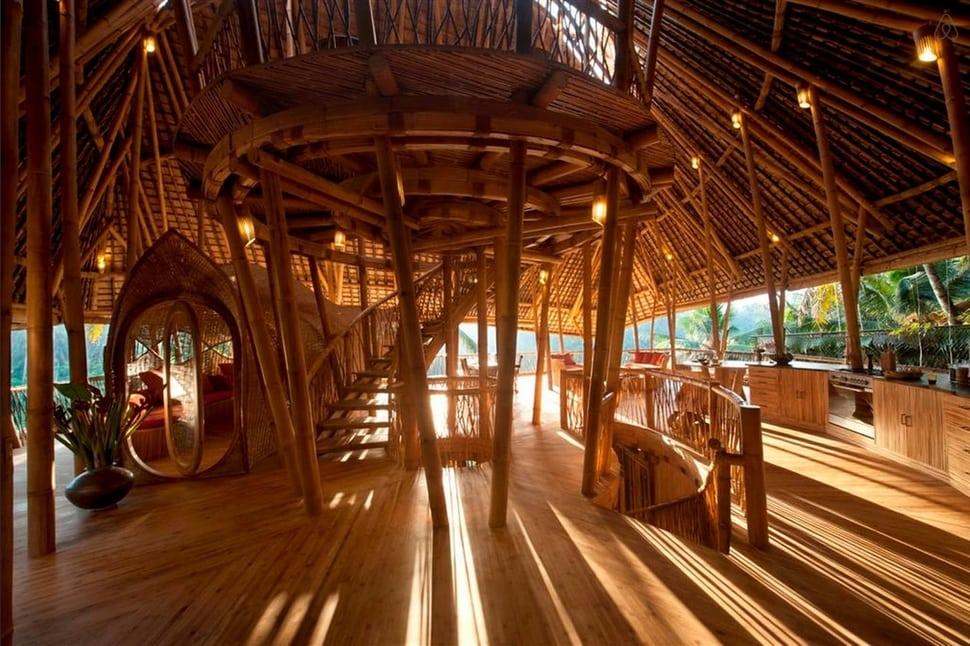 Casa de bambu, Bali, Indonésia