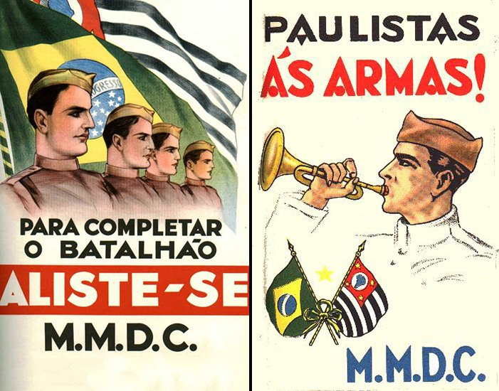 Cartazes Revolução Constitucionalista de 1932
