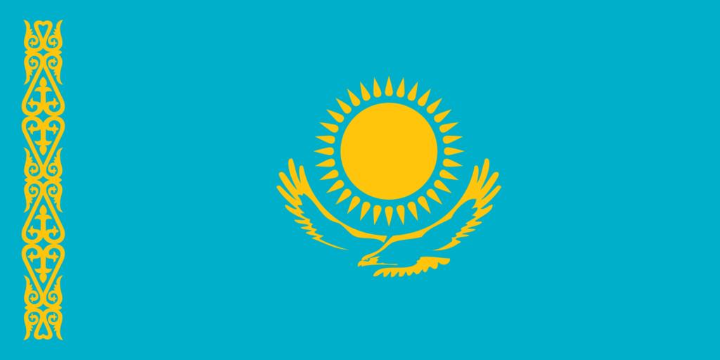 Bandeira Cazaquistão