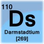 Darmstádtio - Símbolo do elemento químico