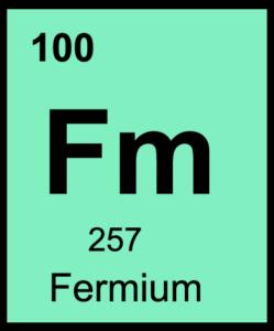 Férmio Elemento Químico - Símbolo