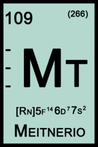 Meitnério - Símbolo do elemento químico