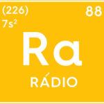 Símbolo do elemento químico rádio