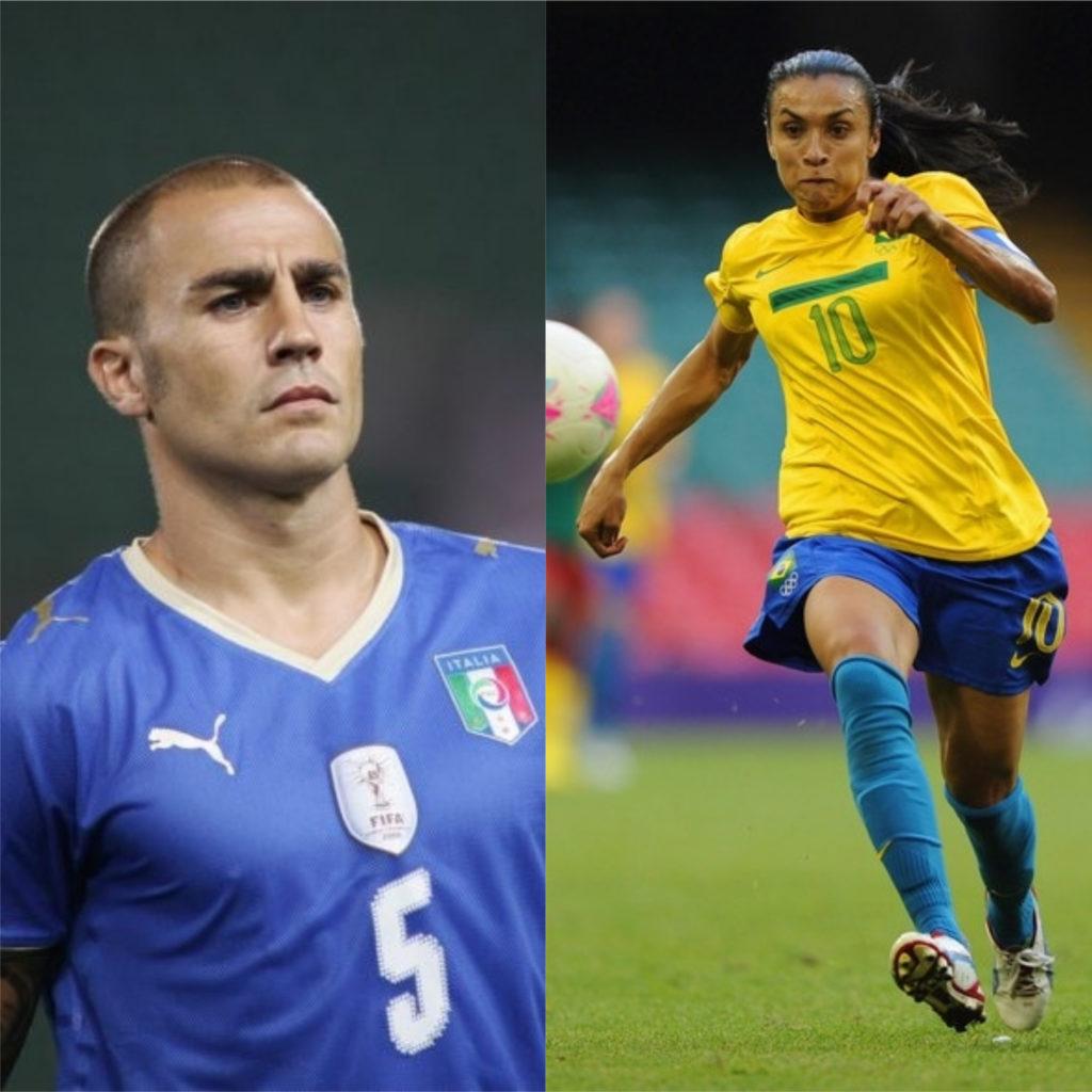 Cannavaro e Marta - Melhores jogadores de futebol do mundo