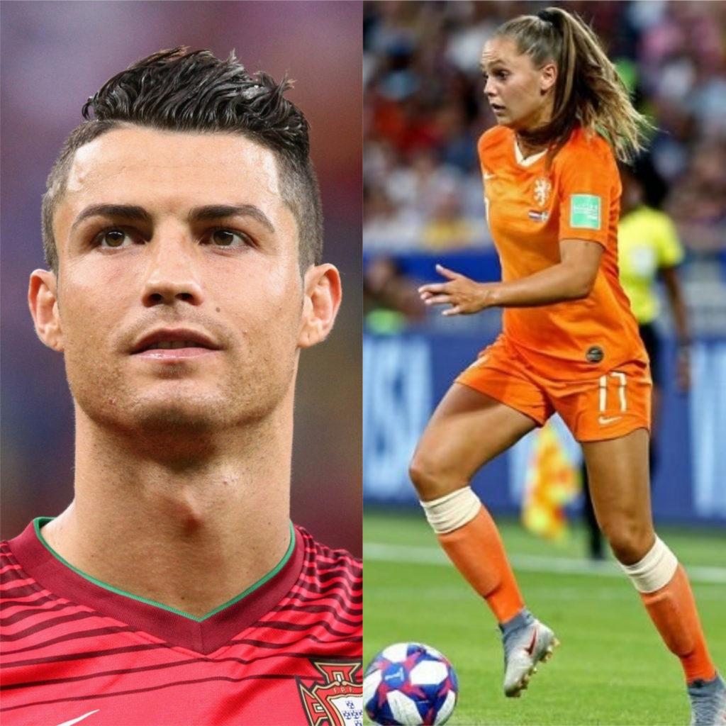 Cristiano Ronaldo e Lieke Martens - Melhores jogadores de futebol do mundo