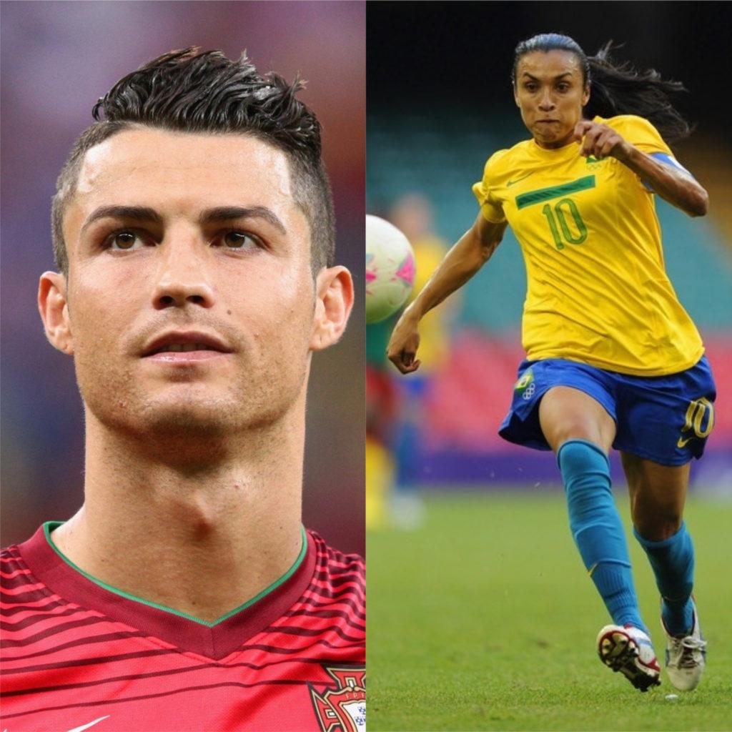 Cristiano Ronaldo e Marta - Melhores jogadores de futebol do mundo
