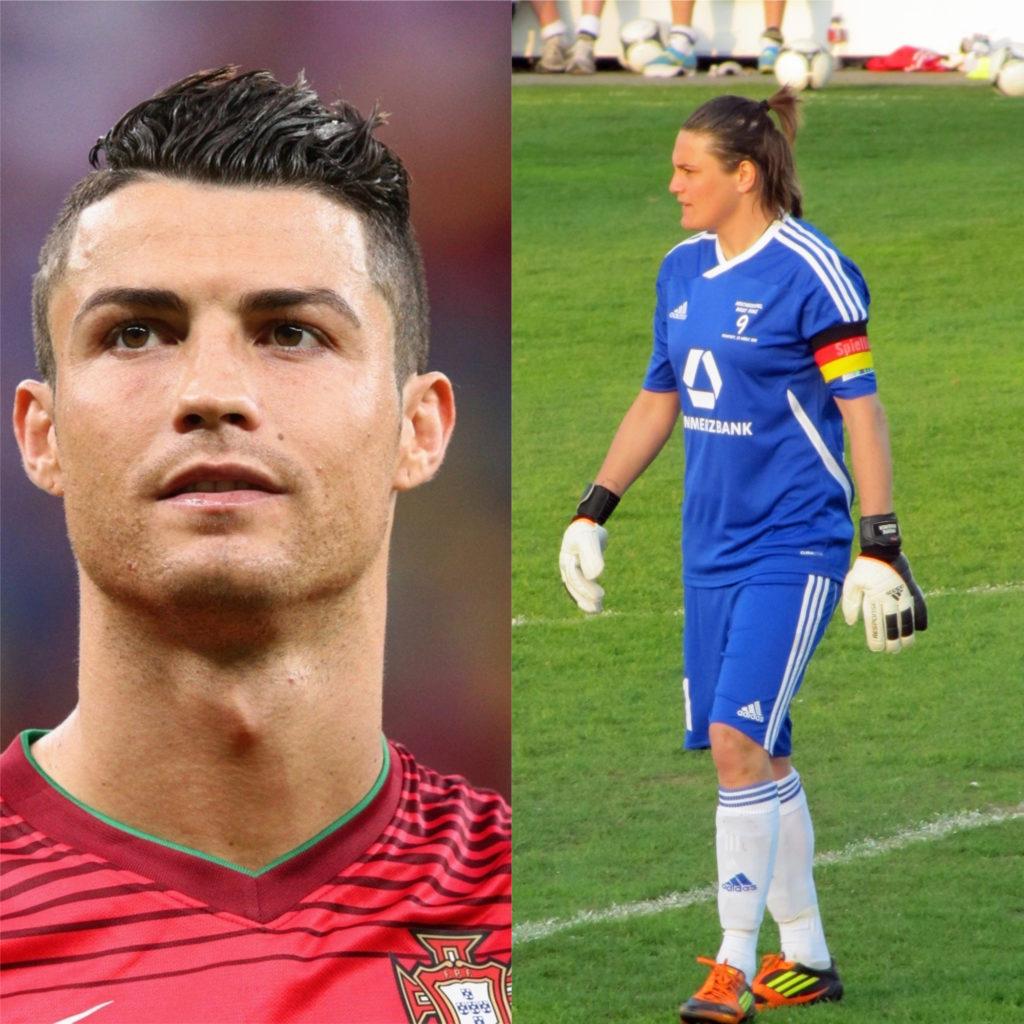 Cristiano Ronaldo e Nadine Angerer - Melhores jogadores de futebol do mundo