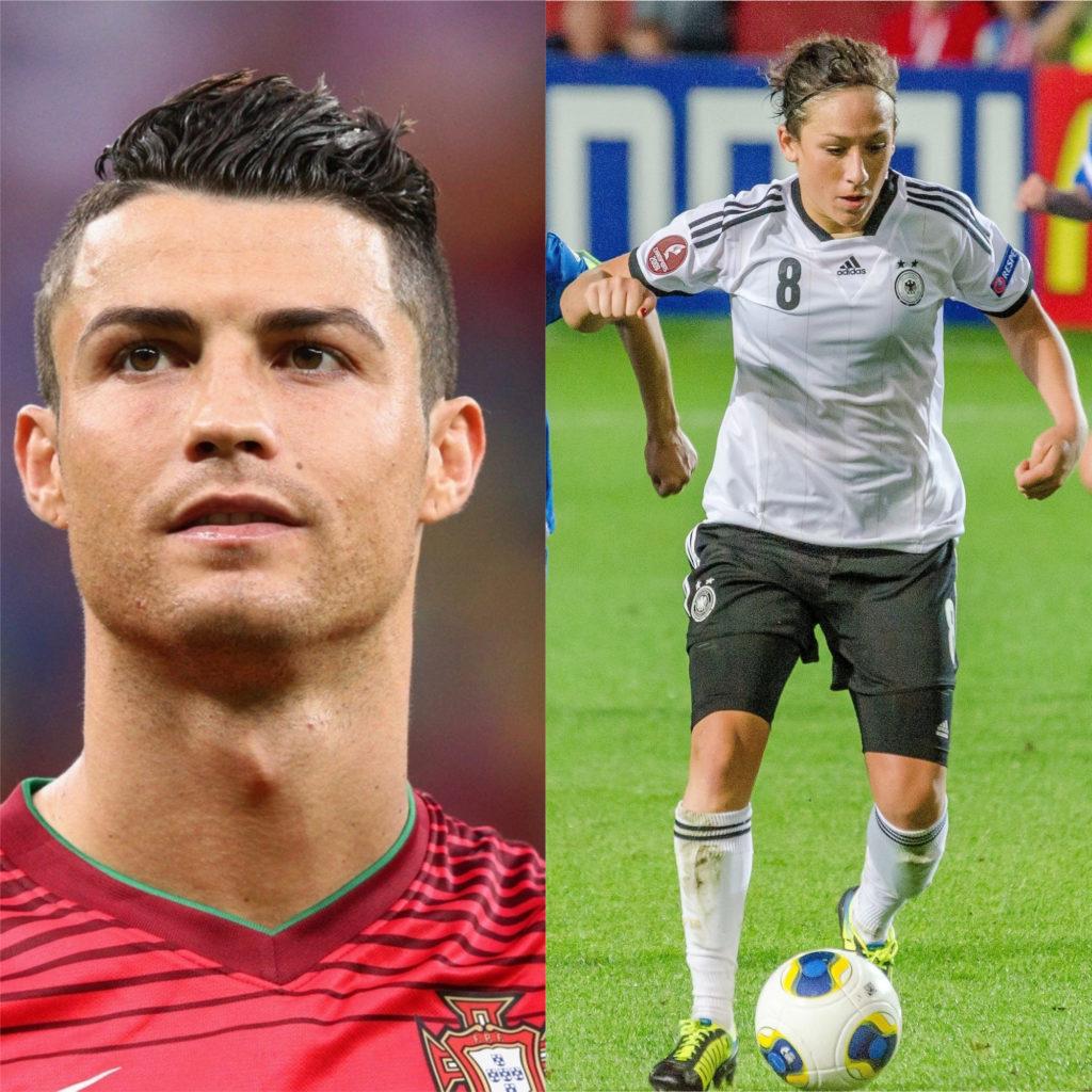 Cristiano Ronaldo e Nadine Kessler - Melhores jogadores de futebol do mundo