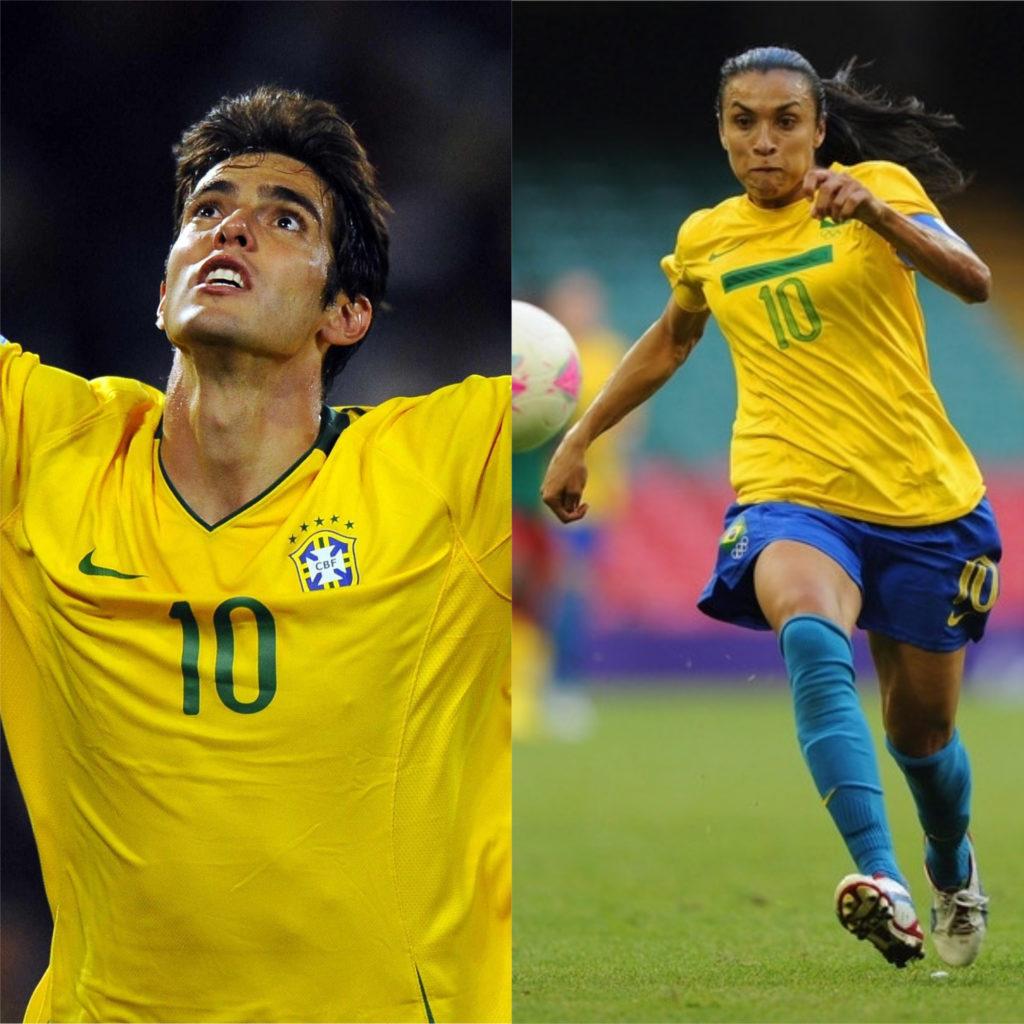 Kaká e Marta - Melhores jogadores de futebol do mundo