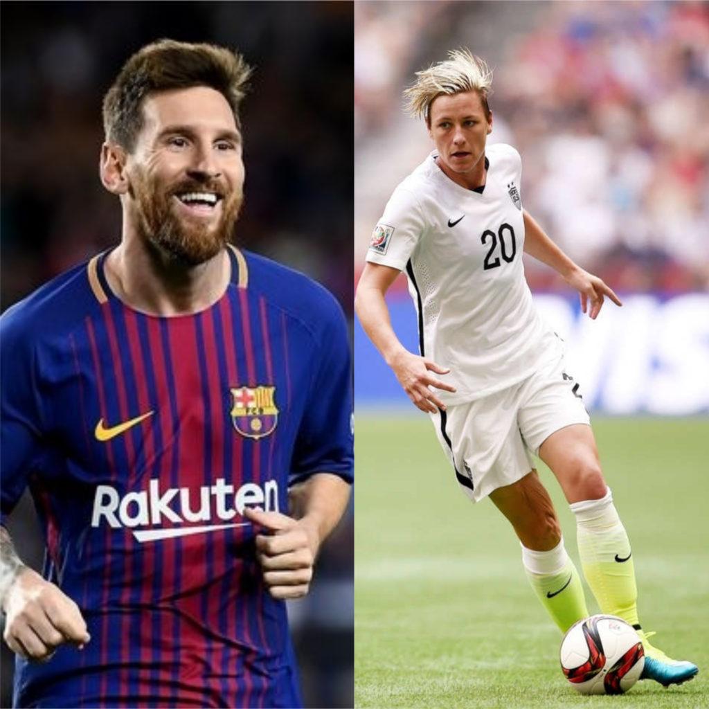 Lionel Messi e Abby Wambach - Melhores jogadores de futebol do mundo
