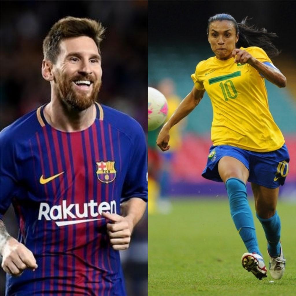 Lionel Messi e Marta - Melhores jogadores de futebol do mundo