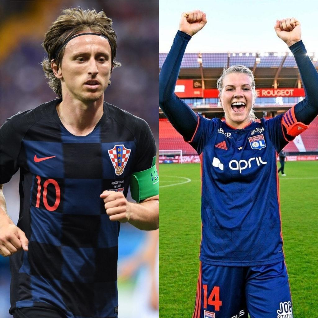 Luka Modric e Ada Hegerberg - Melhores jogadores de futebol do mundo