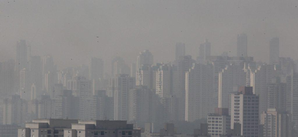 Poluição do ar na cidade de São Paulo - SP