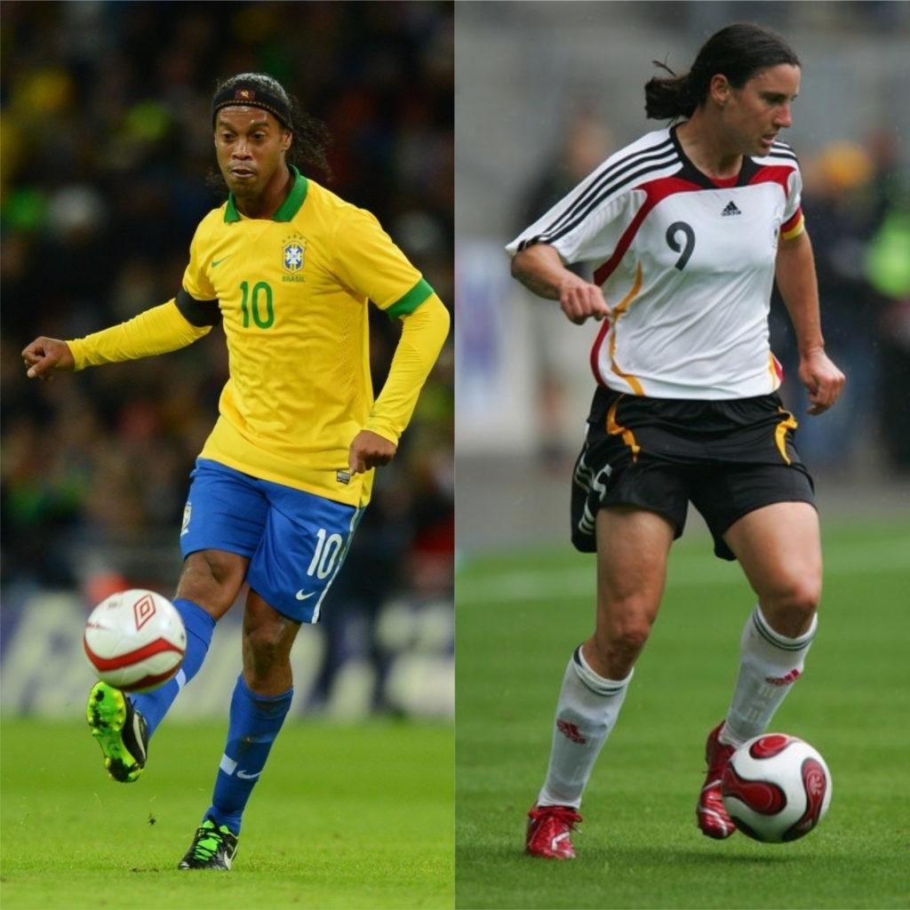Ronaldinho Gaúcho e Birgite Prinz - Melhores jogadores de futebol do mundo