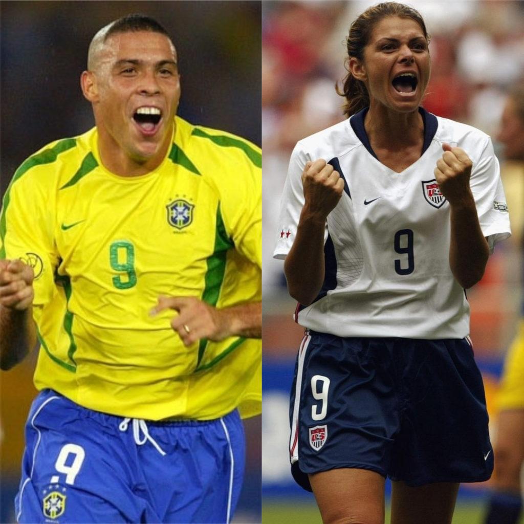 Ronaldo Fenômeno e Mia Hamm - Melhores jogadores de futebol do mundo