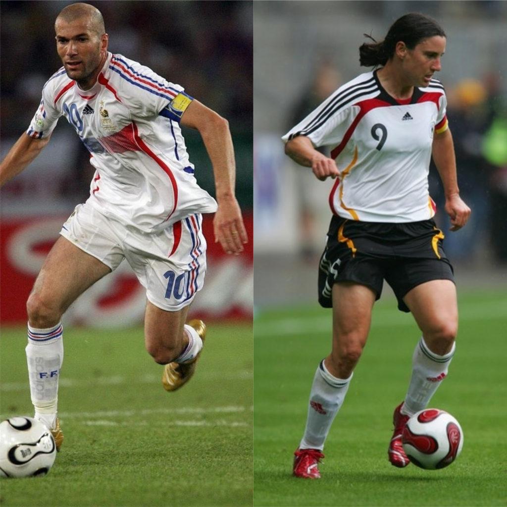 Zinedine Zidane e Birgite Prinz - Melhores jogadores de futebol do mundo