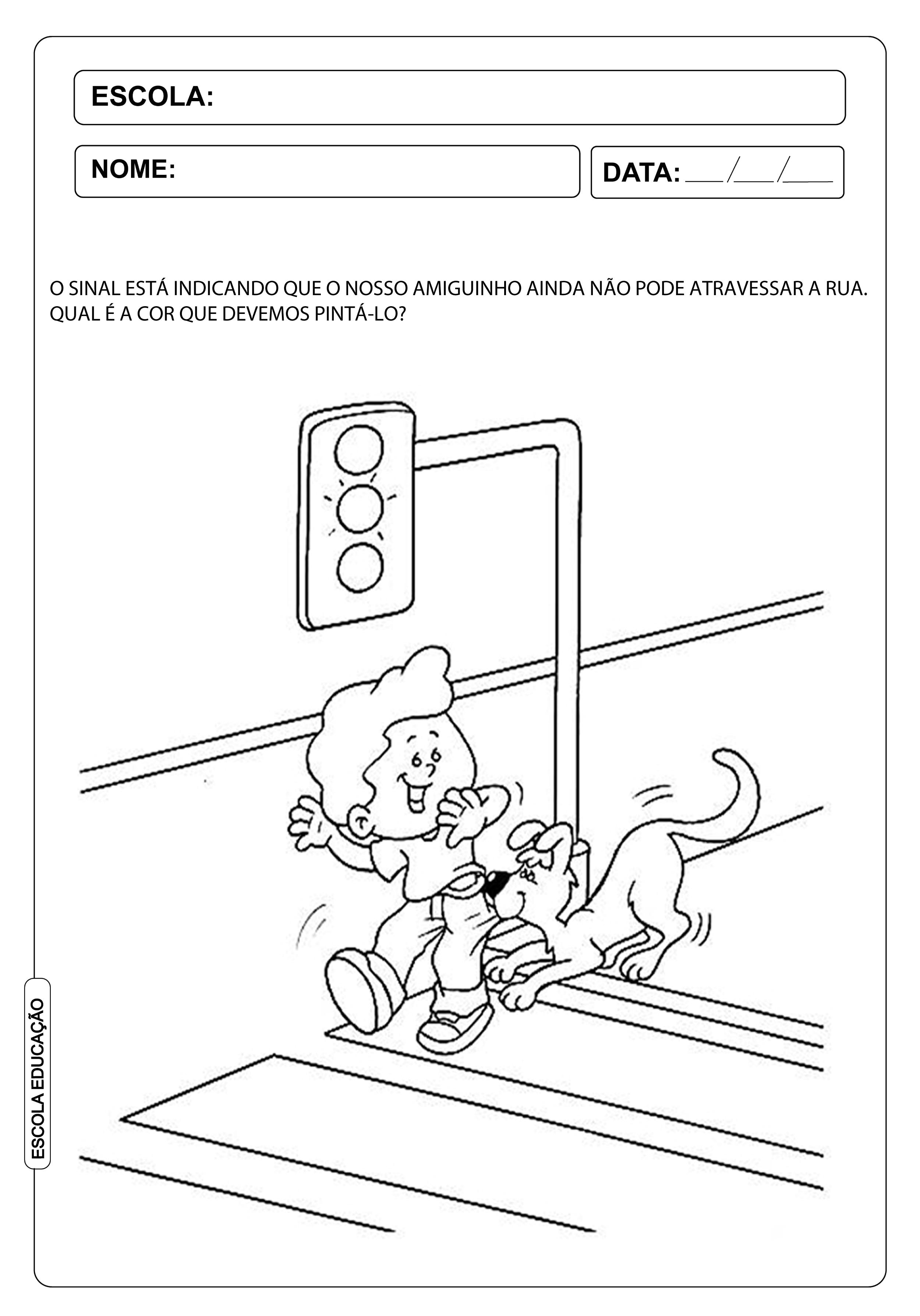 Atividade Dia do Trânsito para Educação Infantil