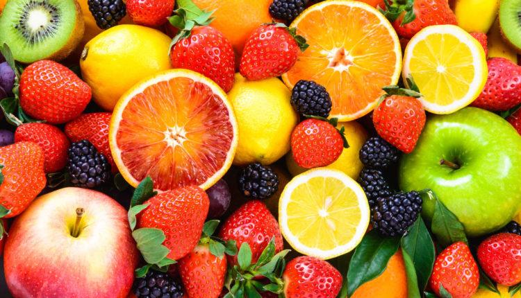 Nomes de frutas por ordem alfabética