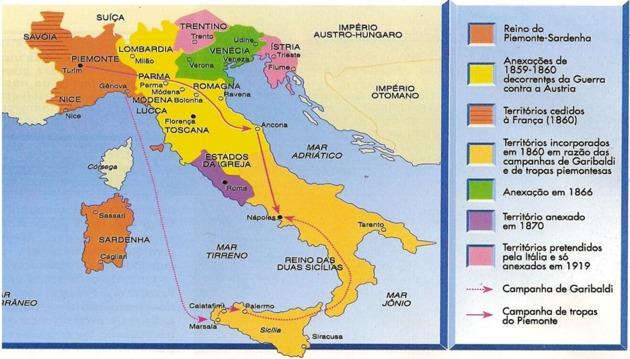 unificação-italiana-mapa