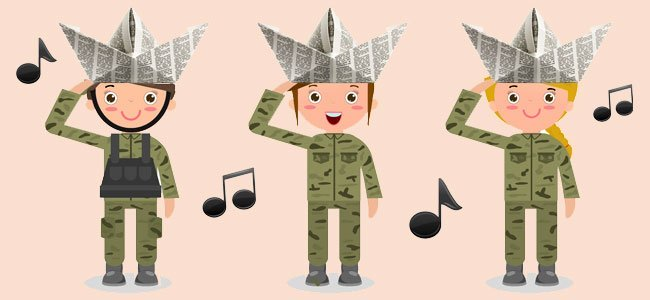 Ficha de leitura para Educação Infantil - Marcha Soldado