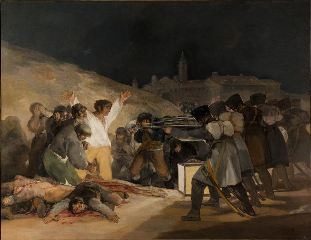 """""""Los Fusilamientos del tres de mayo"""" Francisco de Goya"""