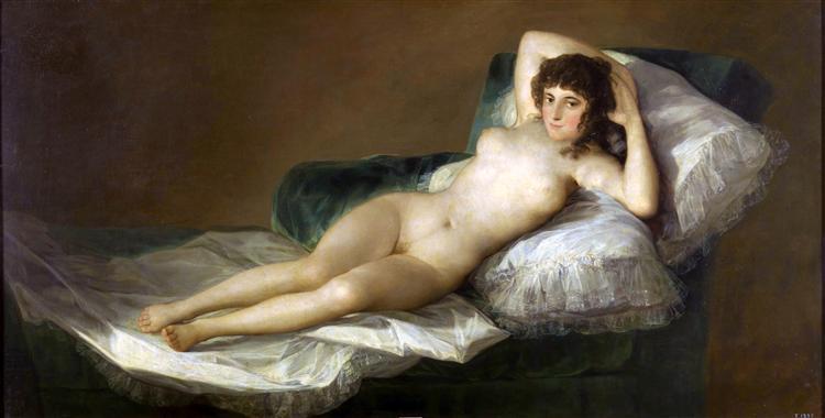 """Maja desnuda"" Francisco de Goya"