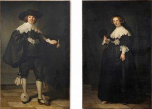 Pendant portraits of Marten Soolmans and Oopjen Cockpit, de Rembrandt – US$ 180 milhões (2015)