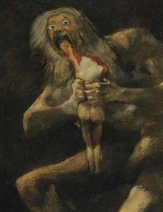 """""""Saturno devorando o filho"""", Francisco Goya"""