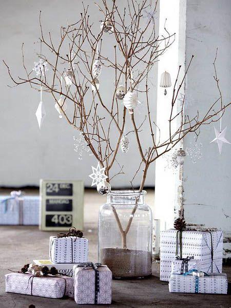 Árvore de natal artesanal - Galhos secos