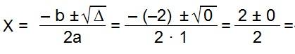 Coeficiente e raiz Bhaskara
