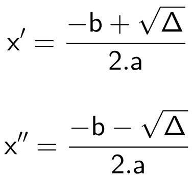 Fórmula de Bhaskara - Raízes