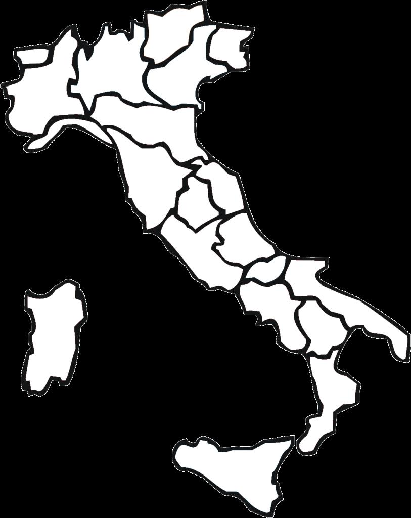Mapa da Itália para colorir