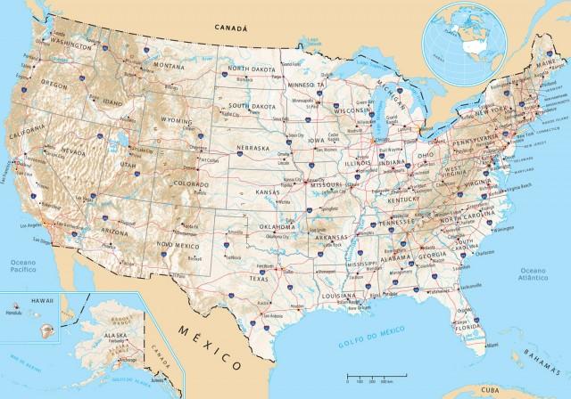 Mapa político Estados Unidos