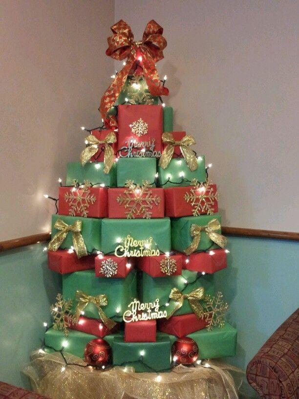 Árvore de Natal Artesanal - Caixas
