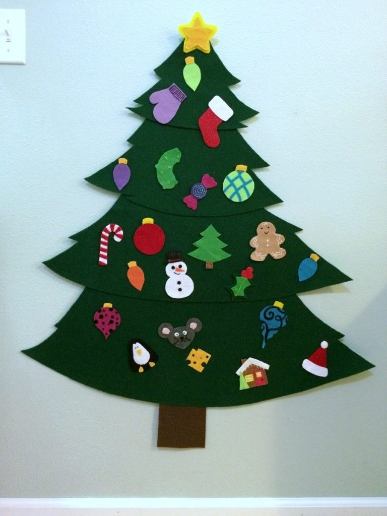 Árvore de Natal Artesanal - Feltro