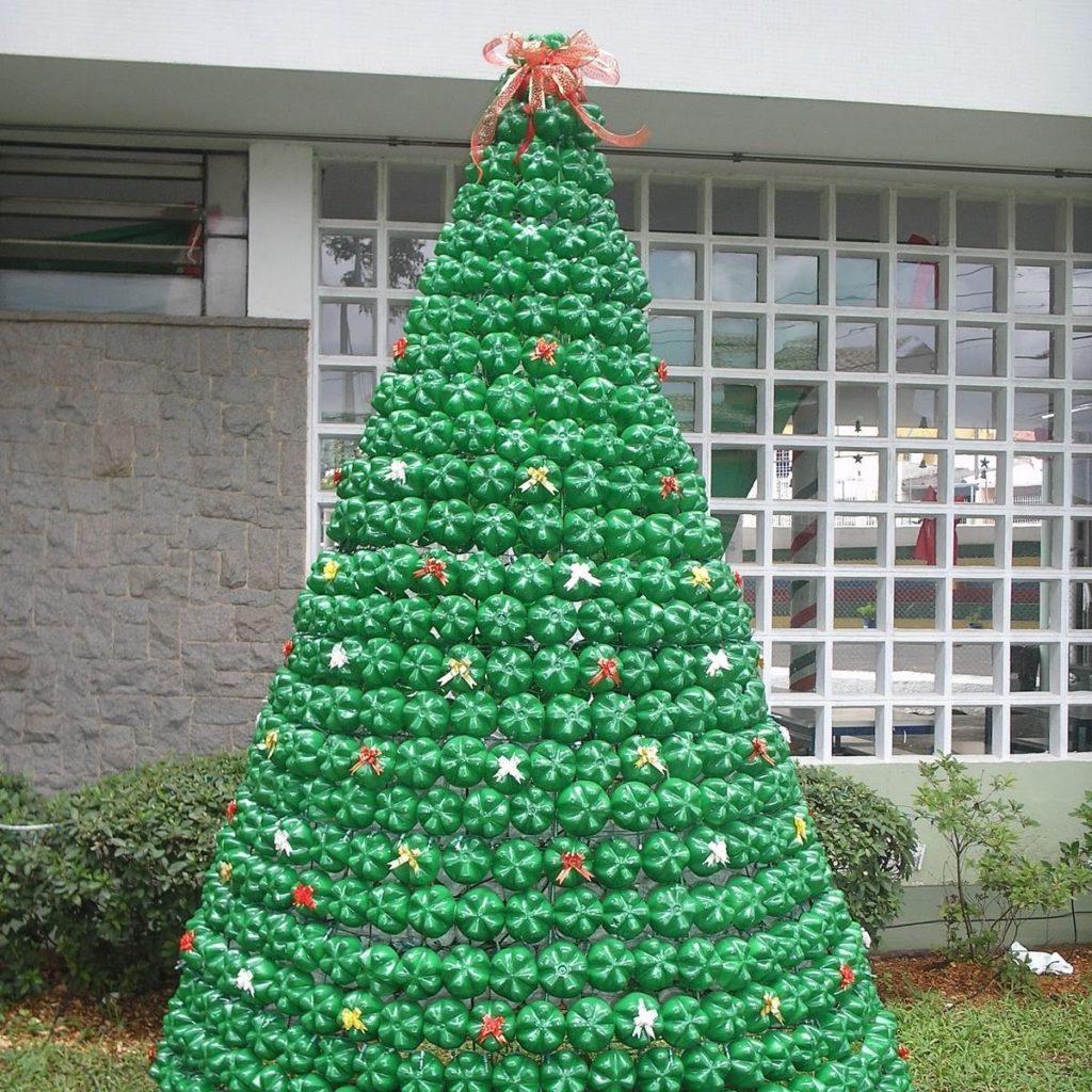 Árvore de Natal Artesanal - Garrafas PET