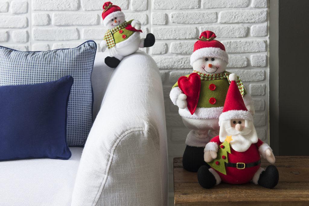 Decoração de Natal com Papai Noel