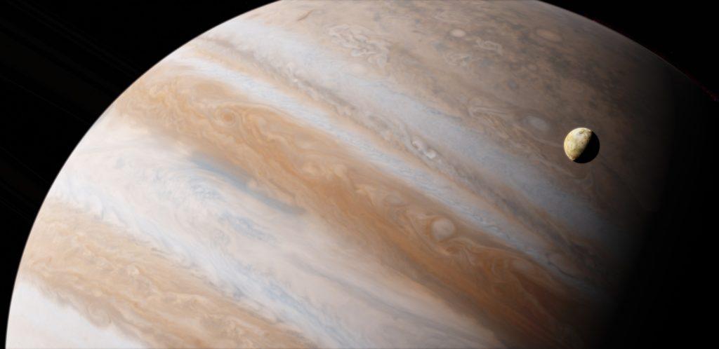 Júpiter e um dos seus satélites