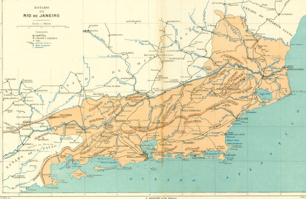 mapa antigo do RJ