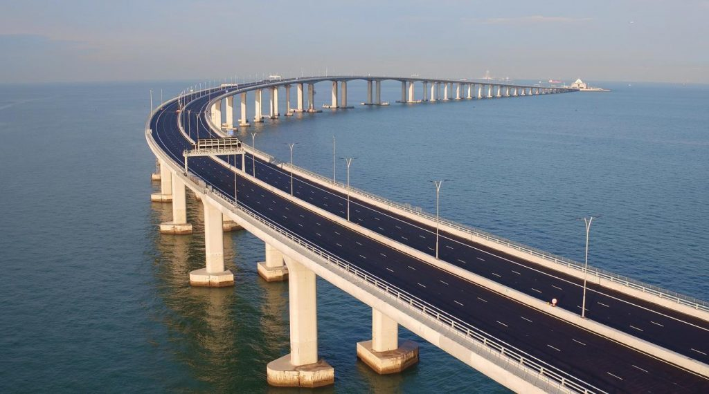 Ponte de Hong Kong-Macau-Zhuhai – China