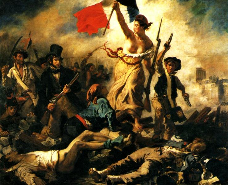 A Liberdade guiando o povo (1830)