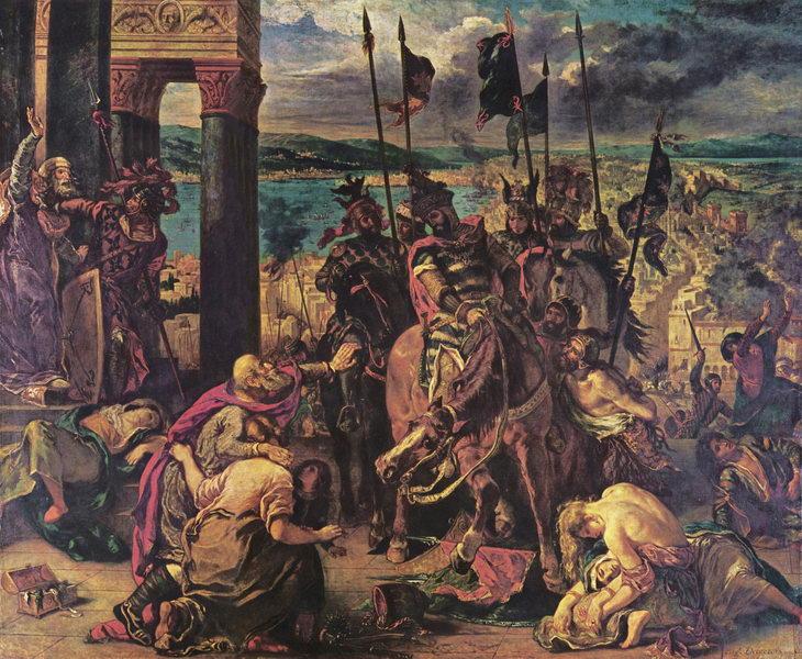 A tomada de Constantinopla pelos Cruzados (1840)